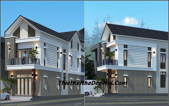 Mẫu thiết kế nhà 2 tầng mặt tiền 5m đẹp