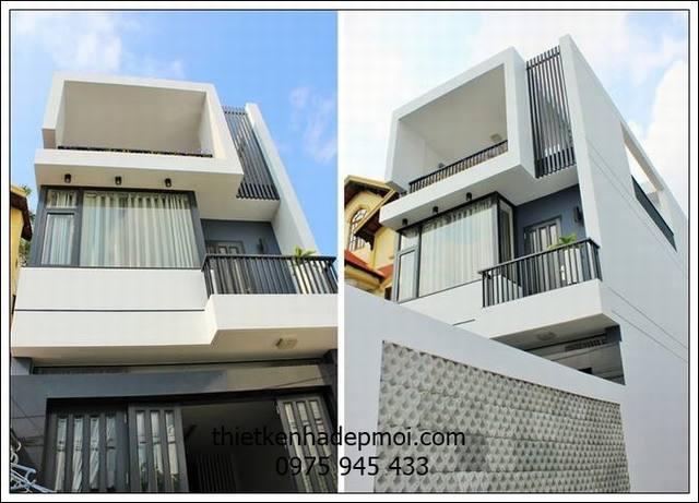Phối cảnh ghép nhà ống 2 tầng hiện đại diện tích 5x18 chị Quế Bình Tân