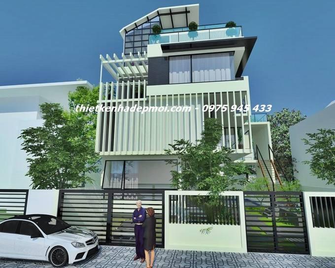 Mẫu nhà phố thông thoáng mặt tiền đẹp tích hợp không gian xanh vừa để ở kết hợp kinh doanh