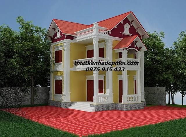Kiến trúc biệt thự mini kiểu pháp đẹp