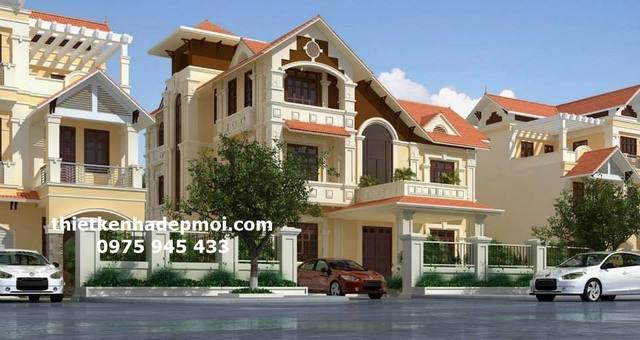 Mẫu biệt thự phố liền kề mái thái tại khu đô thị mới thành phố Nha Trang