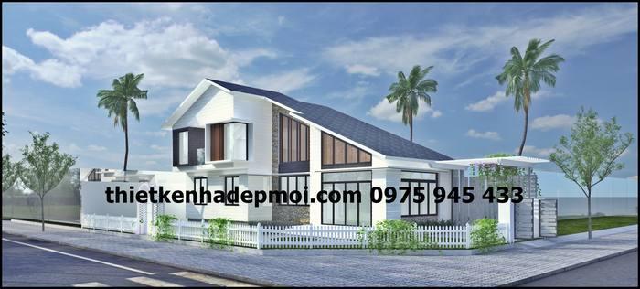 Mẫu thiết kế nhà gác lửng mái thái đẹp độc đáo thoáng mát trên khu đất 2 mặt tiền