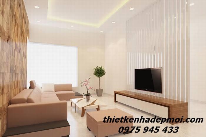 Hình ảnh thiết kế nội thất biệt thự phố hiện đại cho phòng khách góc view 02