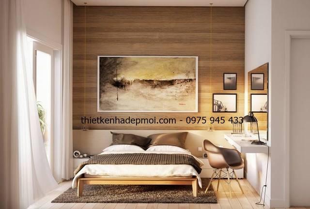 Nội thất phòng ngủ master gam màu vàng nhạt