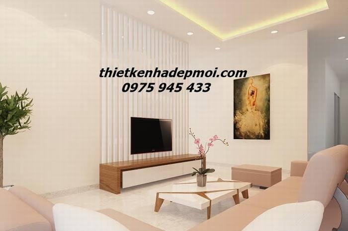 Hình ảnh thiết kế nội thất biệt thự phố hiện đại cho phòng khách góc view 03