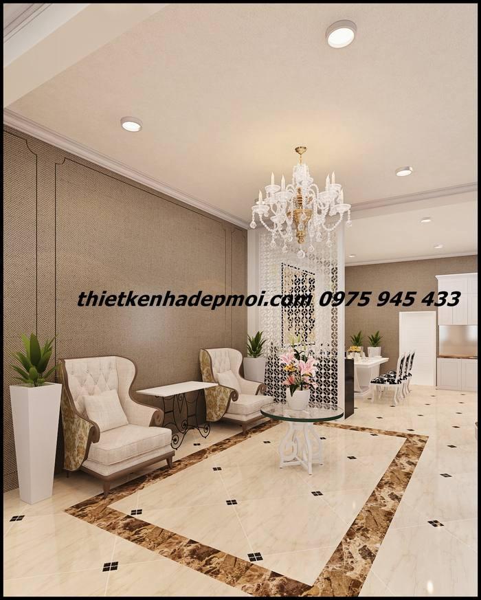 Thiết kế không gian nội thất tầng trệt