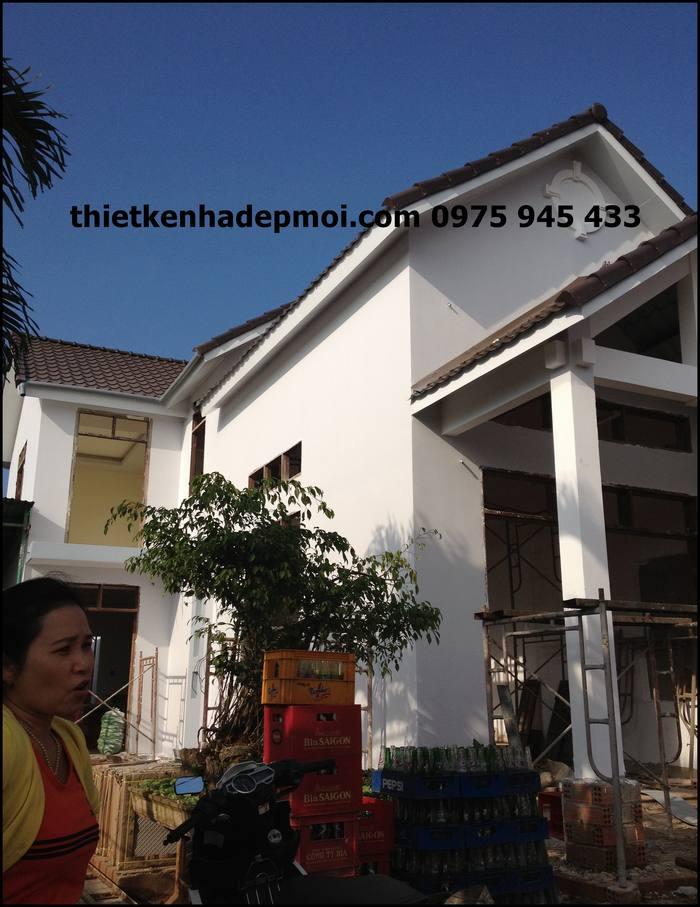 Hình ảnh nhà anh Khánh đang xây thô 2,7 triệu/m2