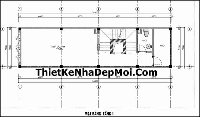 Thiết kế nhà phố mặt tiền 3.5m