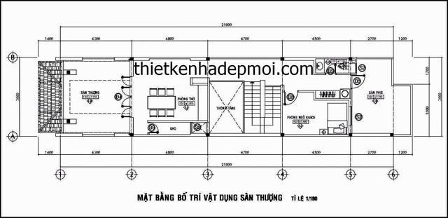 mat bang san thuong mau nha pho 1 tret 2 lau mat tien 5m