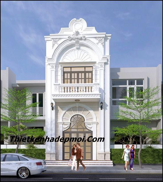 Nhà 1 trệt 1 lầu mặt tiền 4m kiểu cổ điển