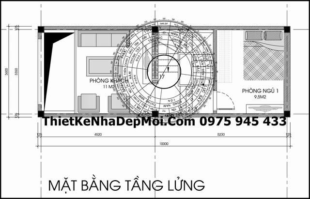 ban ve tang lung nha pho ban co dien 1 tret 1 lung 2 lau san thuong 3,6x10m