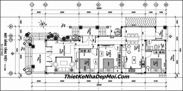 Bản vẽ nhà cấp 4 rộng 9m