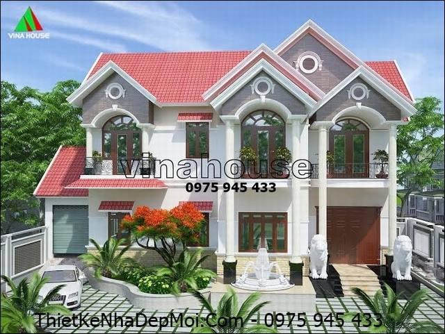 biet thu mai thai 2 tang dep 0957