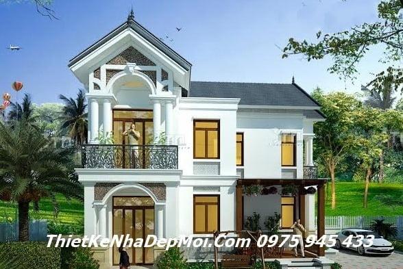 biet thu vuon 2 tang mai thai ban co dien phap dep chu l 0910