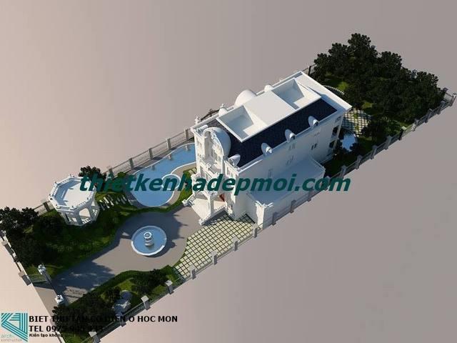 biệt thự nhà vườn 3 tầng bán cổ điển đẹp ở Hóc Môn Thành phố Hồ Chí MINH