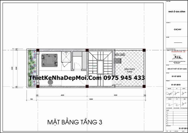 mat bang lau 3 nha pho 5 tang 3,2x10