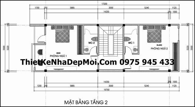 mat bang lau nha pho dep 2 tang 5x16 0987