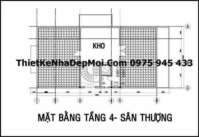 Mặt bằng biệt thự 3 tầng 10x20m