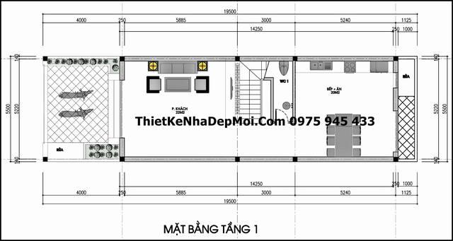 mat bang tang 1 nha pho 2 tang 5x16