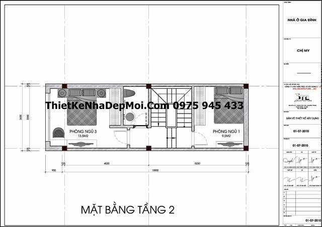mat bang tang 3 nha ong lech tang mat tien 3,2m