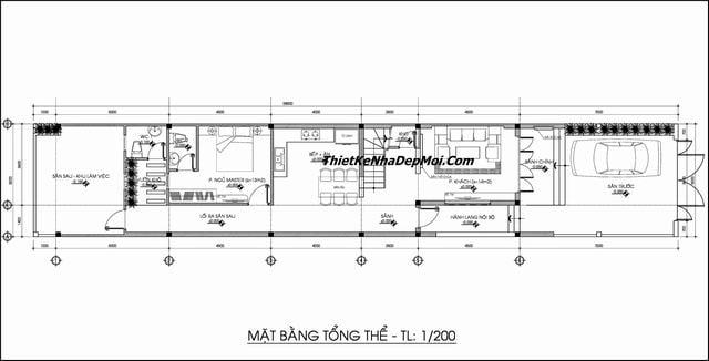 Thiết kế nhà rộng 5m dài 20m