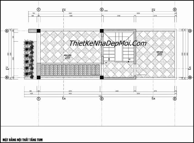 Thiết kế nhà 4 tầng 1 tum mặt tiền 3.5m