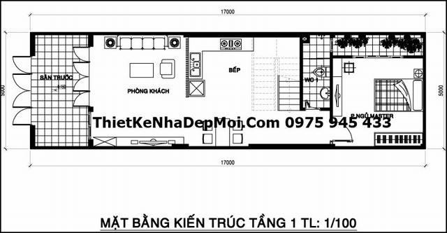 mat bang tang tret nha pho 2,5 tang 5m