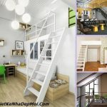 nhà nhỏ đẹp, Nhà nhỏ đẹp kiểu mới thiết kế có tầng lửng 40m2 – 50m2, Công ty thiết kế xây dựng Nhà Đẹp Mới, Công ty thiết kế xây dựng Nhà Đẹp Mới
