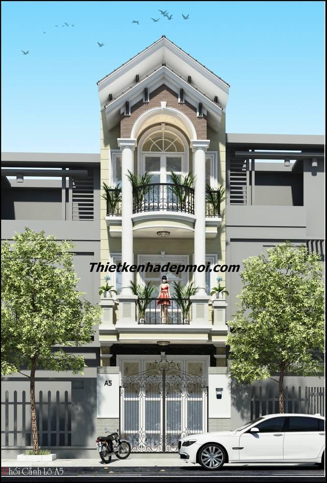 Thiết kế nhà phố 4x14m