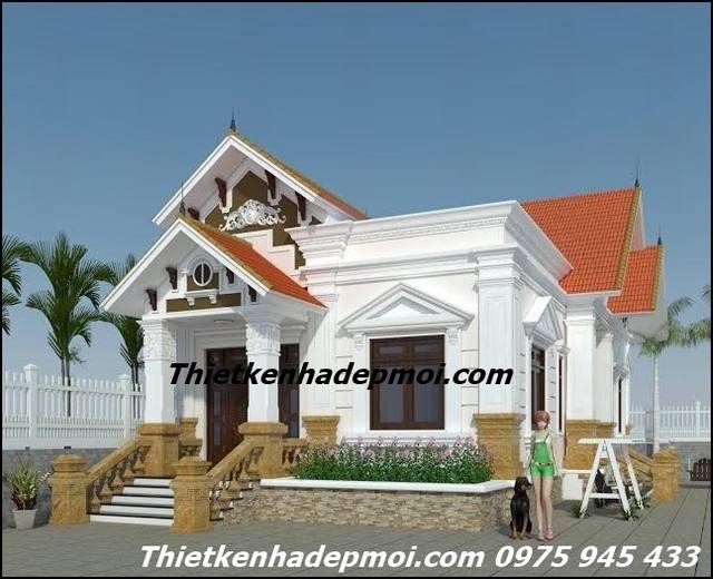 Hình ảnh mẫu nhà một tầng đẹp ba phòng ngủ