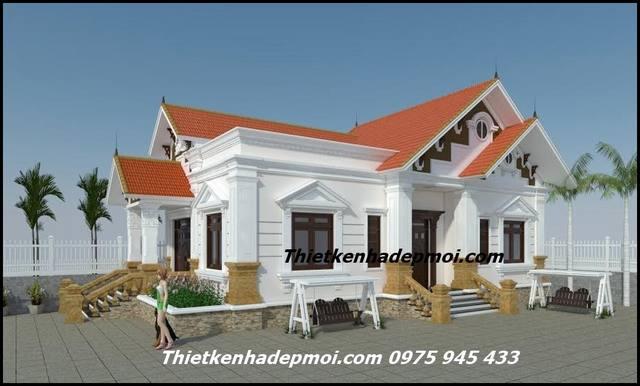 Nhà 1 tầng tân cổ điển ở nông thôn