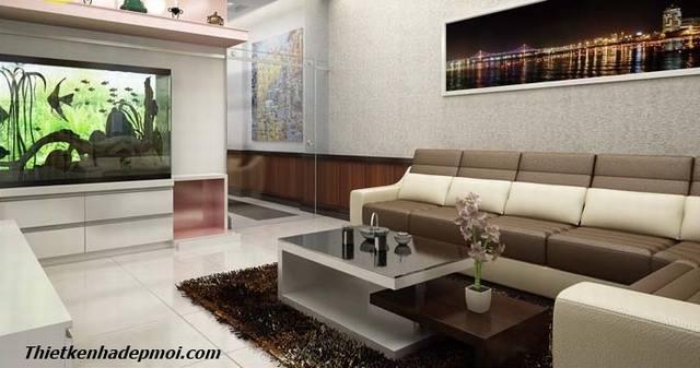Phòng khách nhà ống 4m hiện đại