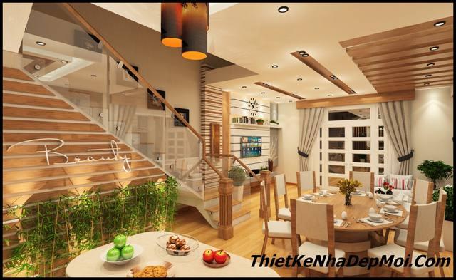 Sửa nhà phố mái thái 3 tầng