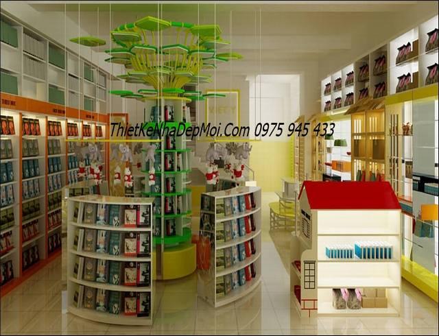 thiết kế nội thất nhà sách giá rẻ