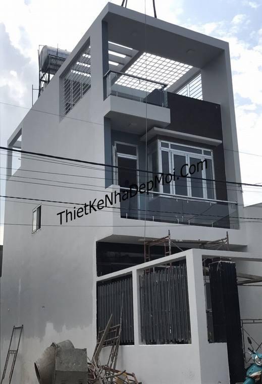 Xây nhà phố 5x15m 2 tầng