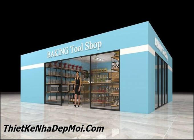 thiet ke cua hang shop showroom gia re 4222