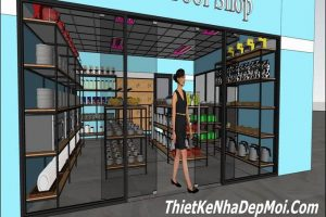 thiet ke cua hang shop showroom gia re 6678