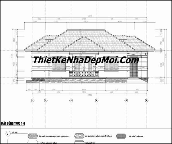 Bản vẽ nhà mái nhật 3 phòng ngủ