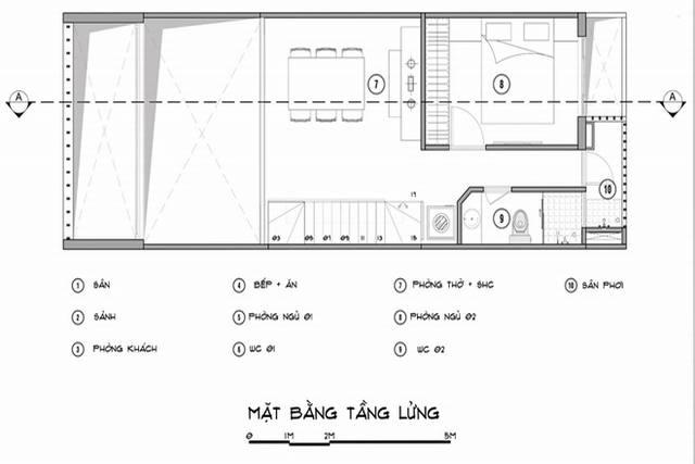 thiết kế nội thất nhà ống 5x14 60m2 có gác lửng đẹp
