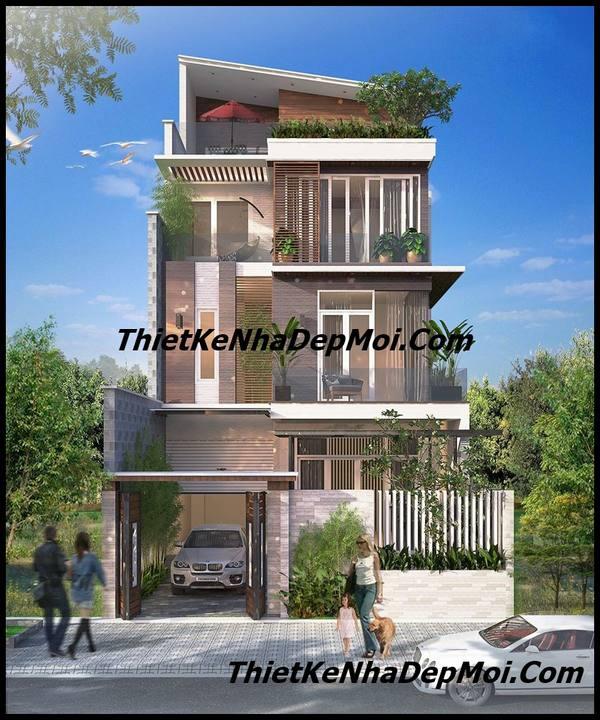 Biệt thự phố 3 tầng mặt tiền 7.5m hiện đại