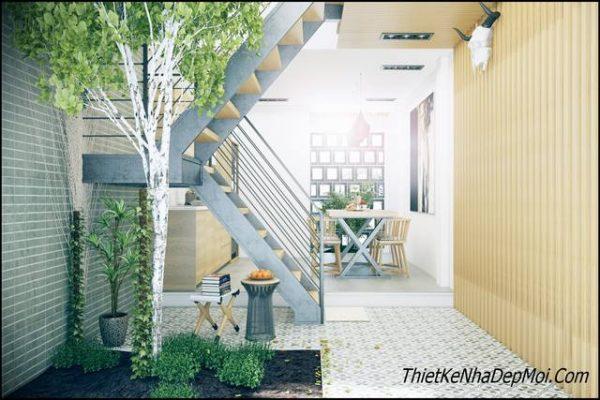Thiết kế giếng trời cho nhà phố