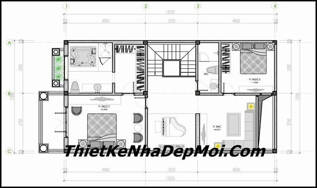 Tư vấn xây nhà biệt thự mini 1 trệt 1 lầu mái thái 100m2