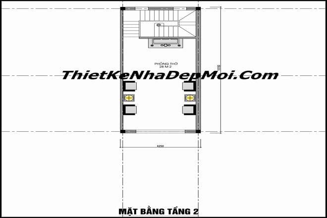 Bản vẽ nhà 1 tầng 3 phòng ngủ ở nông thôn 2020