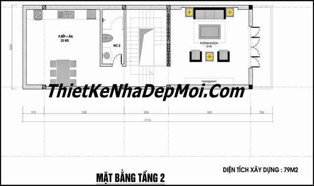 mat bang tang 2 nha pho dep 5m co tang ham