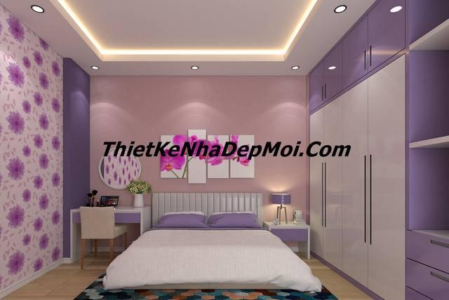 nội thất phòng ngủ nhà ống 5m