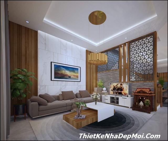 Thiết kế nội thất nhà phố hiện đại 90m2