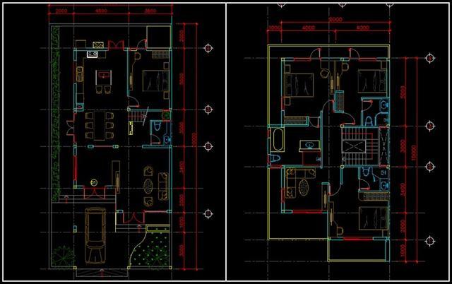 Nhà kiểu hiện đại 2 tầng 10m