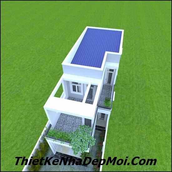 mẫu nhà 2 tầng tiết kiệm 90m2
