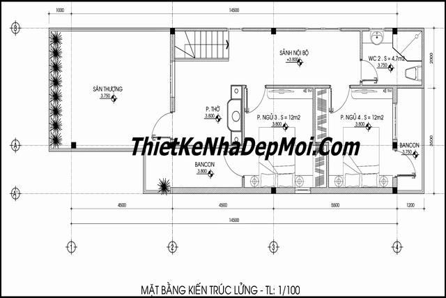 Thiết kế nhà ống 2 tầng tiết kiệm