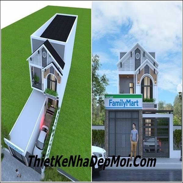 Thiết kế nhà 6m kinh doanh 2 tầng